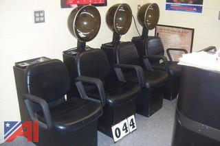 (4) chairs with full head dryers