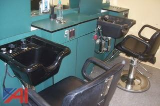 Salon double work station