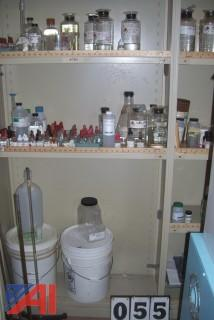 Shelving for chemicals