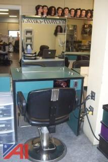 Double Sided Cosmetology Station