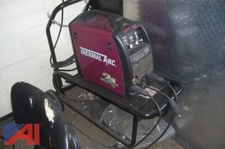(2) welding booths w/welder
