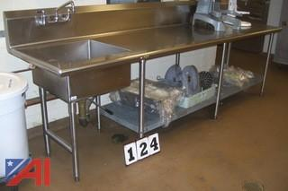 Stainless Steel Sink with Counter