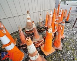150 Pc Group of Safety Cones & Related