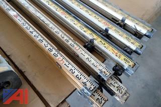 8 Pc Surveyor Tripods & Leveling Rods