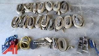 Lot Assorted Rigging Tie Down Straps and Related