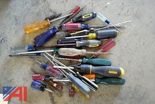 Lot Assorted Hand Tools, Wreches, Screw Drivers