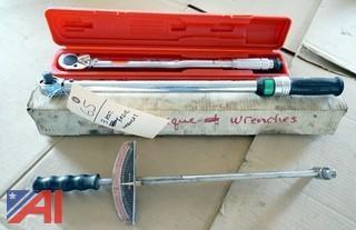 3) Torque Wrenches Sunex, S.K.