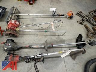 4 Pc Trimmers, Tiller, and Power Broom