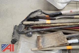 38 Pc Group Commercial Shovels and Rakes Etc