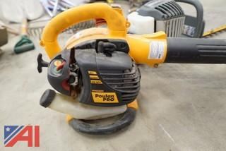 4 Pc Blowers, Hedge Trimmer, Lube Reel
