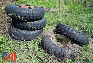 (5) Used 11.00-20 Jeep Military Type Truck Tires