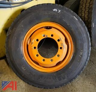 (2) Like New Goodyear G286 12.00R24 Tires