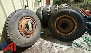 (2) Used Michelin X 12.00R24 XDL Tires on Oshkosh Rims