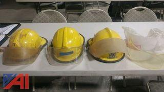 Lot of Fire Fighter Helmets and Shields