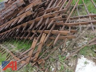 Lot of Vintage Wrought Iron Fencing