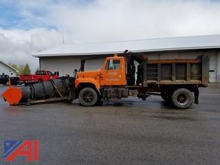 1996 International 2574 4 x 2 Dump with Plow