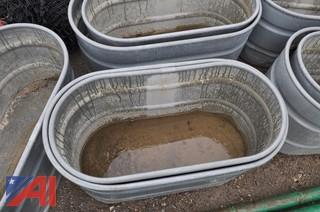 (12) Heavy Duty Galvanized Stock Tanks