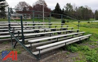 (4) Commercial Outdoor Bleachers