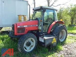 1998 Massey Ferguson 4245 Tractor w/ Side Mower