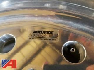 1 Pr Accuride 22.5 x 12.25 Aluminum Rims/Like New