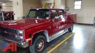 1983 Chevy 30 Scottsdale Utility Box Fire Truck