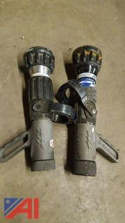 (2) Assorted Task Force Fire Hose Nozzles