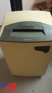 Fellowes 320C-2 Power  Paper Shredder on Wheels w/ Dump Basket