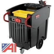 Lot of Rubbermaid BRUTE Mobile Waste Collectors