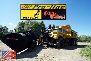 1997 Mack 10 Wheeler RD690S Dump Truck with Plow & Spreader