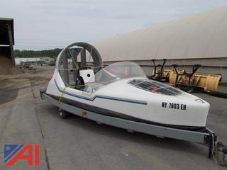 2003 Hovercraft Boat with Trailer