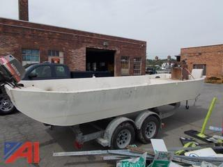 Barge Boat with 1997 Trailer
