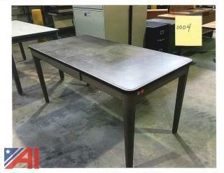 (3) Workshop Metal Tables