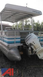 1993 Riviera Cruiser 29' Twin tube Pontoon Boat with Hoosier Trailer