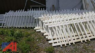 Lot of Plastic Fencing and Posts