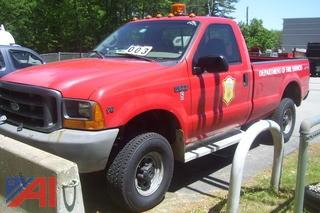 2000 Ford F350 4X4 Pickup with Plow