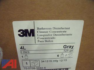 Lot of 3M Bathroom Disinfectant Cleaner