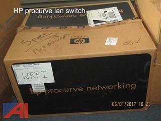 (1) New HP LAN Switch