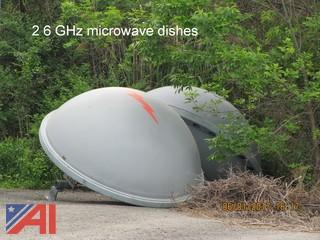 (8) Andrew 8' 6 Ghz Microwave Dishes