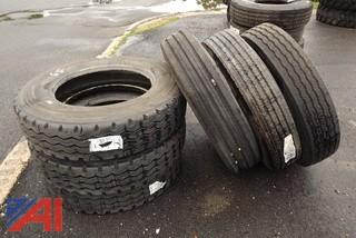(10) General Michelin and Goodyear Truck Tires