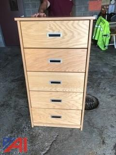 (25) Five Drawer Oak Dressers
