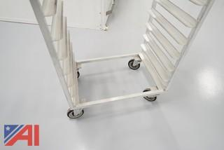 24) New Age #1332S Aluminum Full Bun Pan Racks (For Proofer)