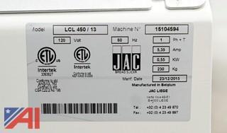 "JAC Chute 450 Continuous Cut 1/2"" Bread Slicer, #LCL 450/13"