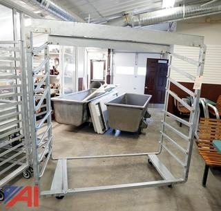 1 Heavy Mobile Aluminum Stock Rack