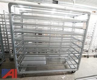 "4) Heavy Aluminum Mobile 72"" Stock Racks"
