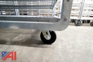 """4) Heavy Aluminum Mobile 72"""" Stock Racks"""
