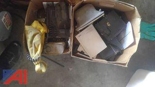 (2) Boxes of Siren and Light Equipment