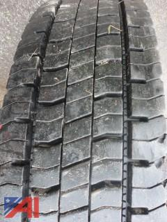 (4) Continental HDR Regional Traffic Truck Tires
