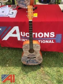 (1) Custom Guitar with Country Star Autographs