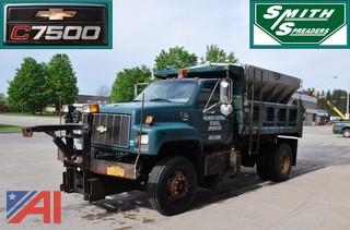 1999 Chevy C7500 Dump Truck with Plow & Spreader
