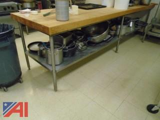 Stainless Steel/Butcher Block Table